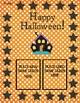 Halloween Multiplication Gameboard