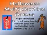 Halloween Multiplication Games- All Facts from 0 x 0 to 12 x 12