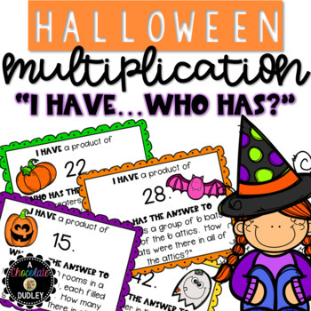 "Halloween Multiplication ""I Have ... Who Has?"""