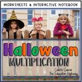 Halloween Multiplication Interactive Notebook | Worksheets