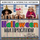 Halloween Multiplication Interactive Notebook   Worksheets