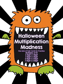 Halloween Multiplication Madness-60 Task Cards