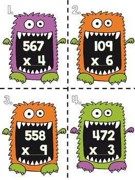 Halloween Multiplication Madness-60 Task Cards