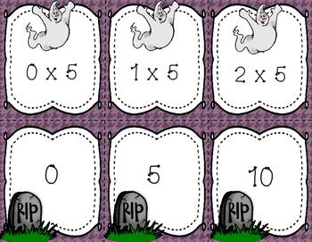 Halloween Multiplication Match