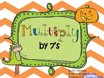 Halloween Multiplication Match 7's