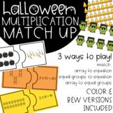 Halloween Multiplication Match Up Math Game