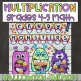 Halloween Monsters Multiplication Activity