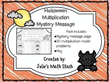 Halloween Multiplication Mystery Message