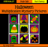 Halloween Multiplication Mystery Pictures