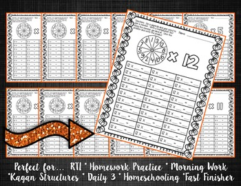 Halloween Themed Multiplication Math Packet