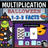 Halloween Multiplication Playing Cards 1-2-3 Fact Boom Cards™