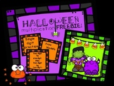 Halloween Multiplication Practice FREEBIE with Area Models