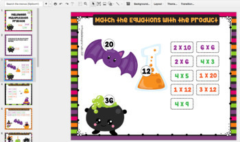 Halloween Multiplication Practice Google Slides Classroom