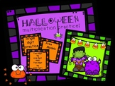Halloween Multiplication Practice with Area Models!