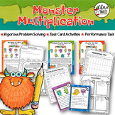 Multiplication Problem Solving Activities Task Cards Worksheet