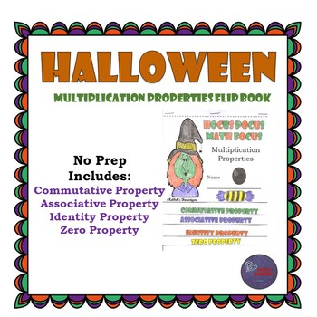 Halloween Multiplication Properties Flippable