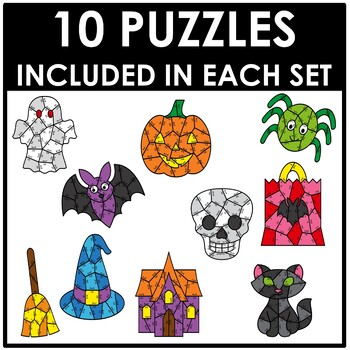 Halloween Multiplication Puzzles
