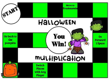 Halloween Multiplication QR Code Task Cards, SCOOT, and Board Game
