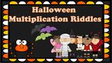Halloween Multiplication Riddles Task Cards {FREEBIE}