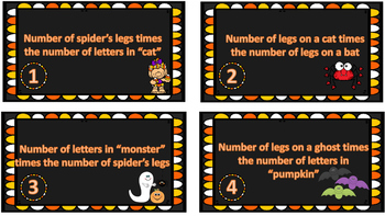 Halloween Multiplication Riddles Task Cards {FREEBIE}