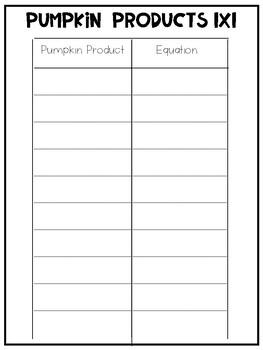 Fall Multiplication STEM