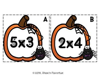 Halloween Multiplication Scavenger Hunt