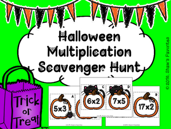 Halloween Multiplication Scavenger Hunt