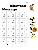 Halloween Multiplication Secret Message