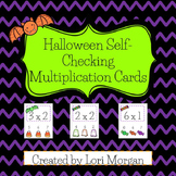Halloween Multiplication Self-Checking Task Cards