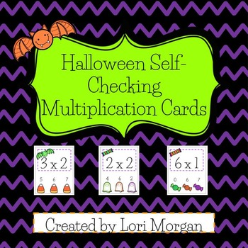 Halloween Multiplication Self-Checking Task Cards