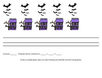 Halloween Multiplication Story Problems