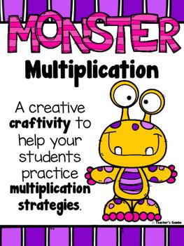 #hallowdeals - Halloween Multiplication Strategies Monster