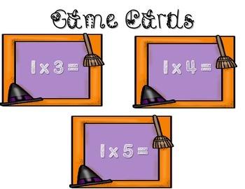 "Halloween Multiplication ""THREE IN A ROW"" Math Game"