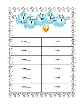 Halloween Multiplication Tables 5-8