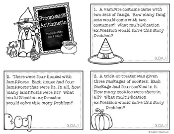 Halloween Multiplication Task Cards