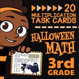 Halloween Multiplication Task Cards ★ 3rd Grade Multiplication Word Problems