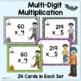 Halloween Multiplication Task Cards  - Single & Multiple D