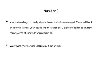 Halloween Multiplication Word Problem Practice