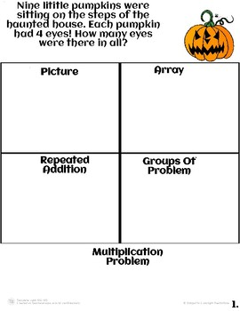Halloween Multiplication and Array Worksheets