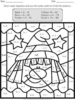 halloween multiplication and division color by number - Color By Number Halloween 2