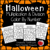 Halloween Multiplication and Division Color by Number