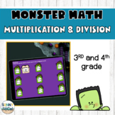 Multiplication and Division Practice | Digital | Halloween-Themed