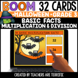 Halloween Multiplication and Division Facts Boom Cards  |