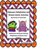 Halloween: Multiplication and Division- Math Center Activities
