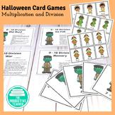 Halloween Multiplication and Division Math Games