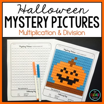 Mystery Pictures Halloween--Multiplication and Division