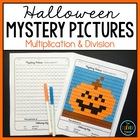 Mystery Pictures Halloween - Multiplication and Division Facts