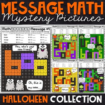 Halloween Mystery Pictures - Multiplication and Division