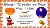 Halloween Multiplication and Division Word Problems