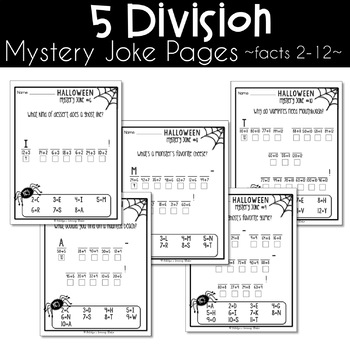 Halloween Multiplication and Division Worksheets
